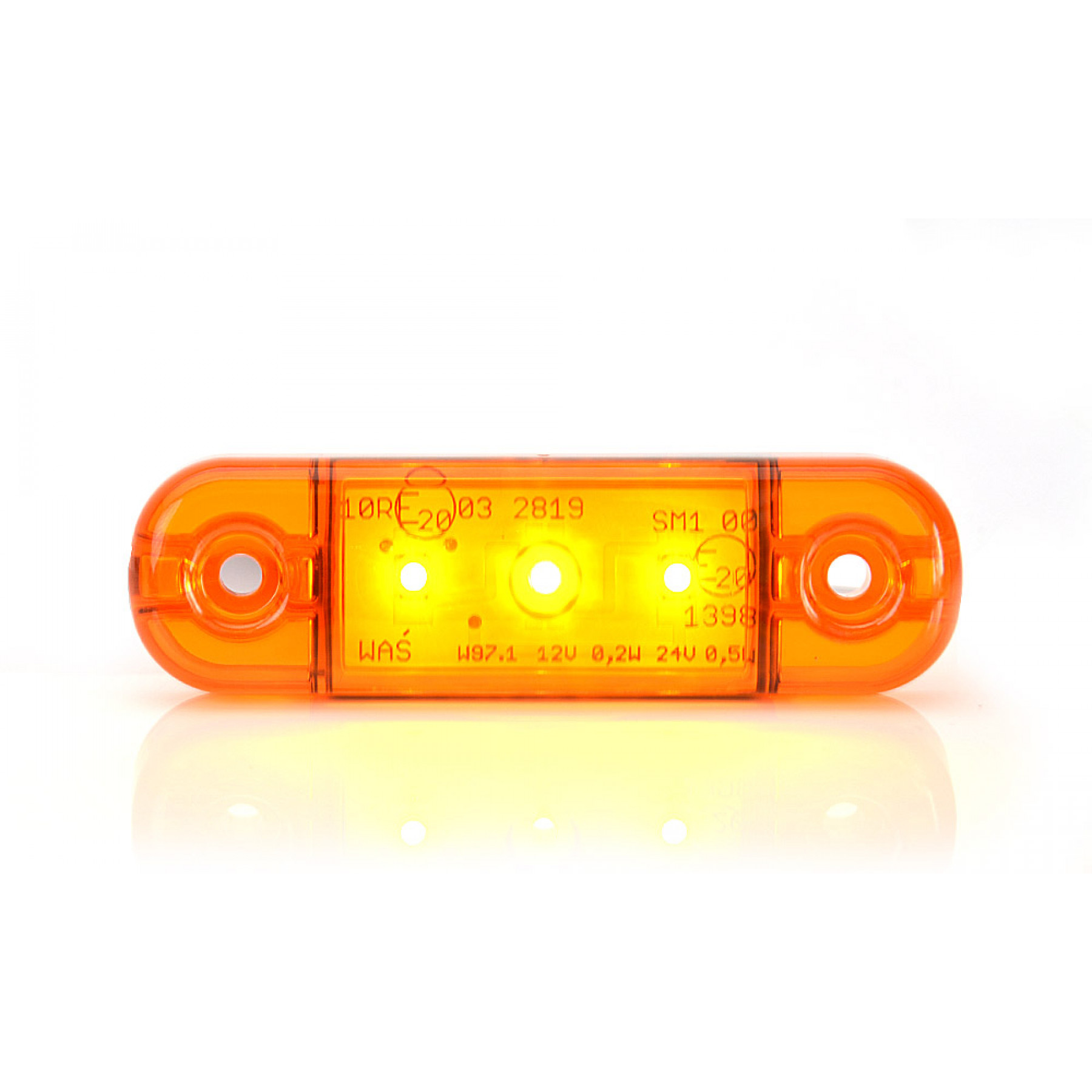 Markeringslamp LED oranje 3 led 12/24v