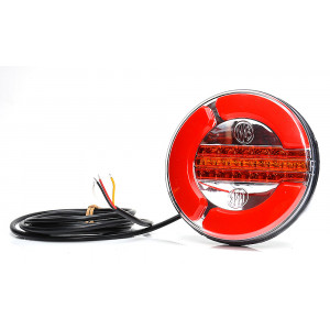 Achterlicht LED rond 12/24v 3 functies L/R