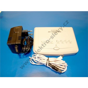 Channel splitter, 4-channel, switchmode AC-DC adaptor includ