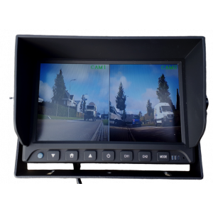Monitor 7 inch split (voor 2 camera's)