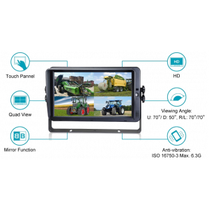 "KSG 10"" monitor AHD (touchscreen)"