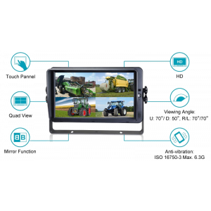"""KSG 7"""" monitor AHD (touchscreen)"""
