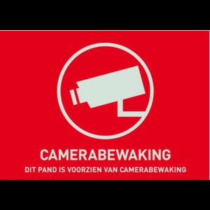 Waarschuwingssticker camerabewaking 148x105 mm
