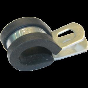 Leidingklem met rubber 6mm