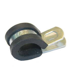 Leidingklem met rubber 25mm