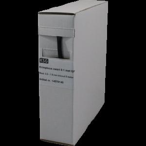 Krimpkous met lijmlaag 3,0>1,0mm 5 mtr.