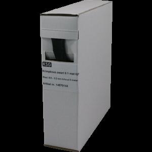 Krimpkous met lijmlaag 9,0>3,0mm 3 mtr.