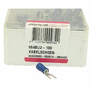 ds. Kabelschoenen 664 (100) haak 4 mm