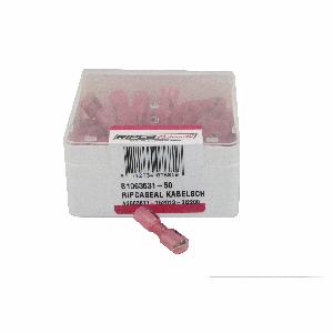 ds.kabelschoen krimp rood 6.35x.08 (50)
