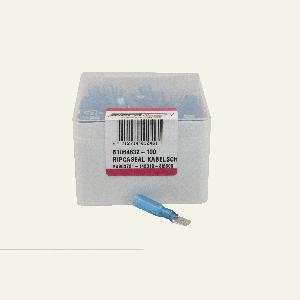 ds.Kabelschoen krimp blauw 100