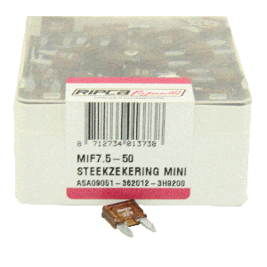 ds. Zekering steek mini 7,5amp (50)