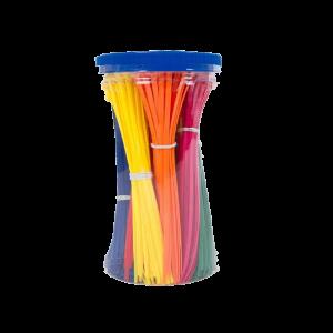 Kabelstrips assorti gekleurd 450 stuks