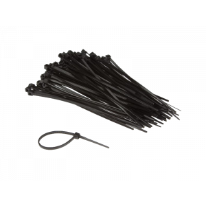 Kabelstrip 300x7.6 zwart 100st