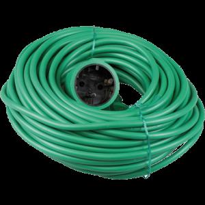 Verlengkabel groen 20 mtr.