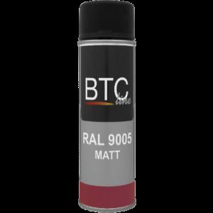 BTC0905 RAL 9005 Zwart mat 400ml.