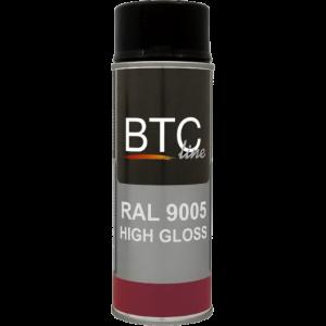 BTC0905 RAL 9005 Zwart glans 400ml.