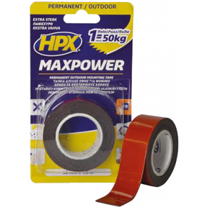 Tape 2-zijdig MAX POWER 19mm x 5m