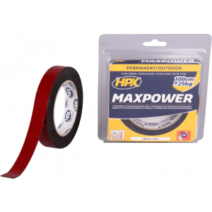 Tape 2-zijdig MAX POWER 19mm x 5m