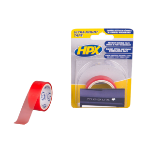 Dubbelzijdig tape transparant (spoilertape)19mm