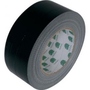 Linnen tape zwart 25m 50mm