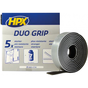 Duo grip klikband - zwart 25mm x 2m
