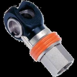 Knikkoppeling SC serie A1 DN6 G5/16 8mm.slangaansluiting