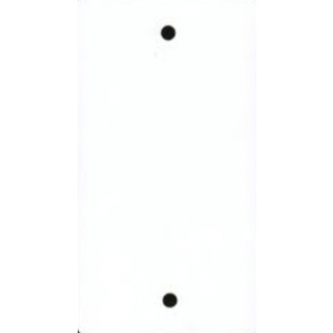 Label wit kunststof 65x120mm m. perforatie (500st.)