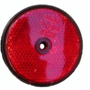 Reflector Rood rond 60mm schroef