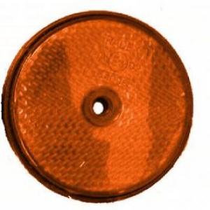 Reflector Oranje rond 60mm schroef