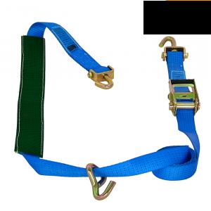 Sjorband over band ambulance blauw 50mm + extra haak