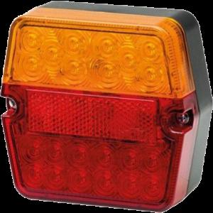 Achterlicht LED vierkant Hella 12/24v