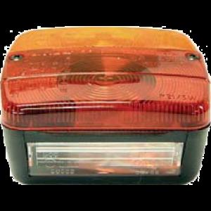 Achterlicht 10x10cm 4F 3 lamps