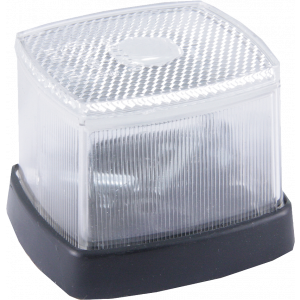 Markeringslamp wit 62x65mm + reflector