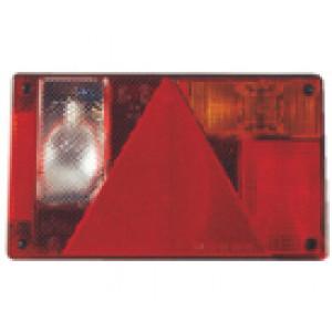 Achterlicht 23x13cm rechts met connector FP63.030