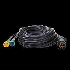 Kabelset 9 mtr. + stekker 7-pol. + 2 x conn.5-polig