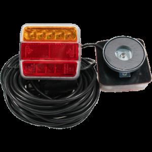 Achterlicht set met magneet LED 7,5 mtr 12V oranje/rood/rood