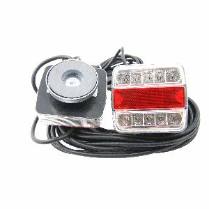 Achterlicht set met magneet LED 12 mtr. 12v wit/rood/wit