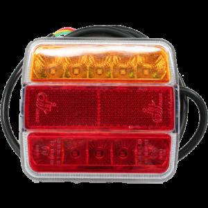 LED achterlicht 12v 2mtr. kabel Oranje/rood/rood