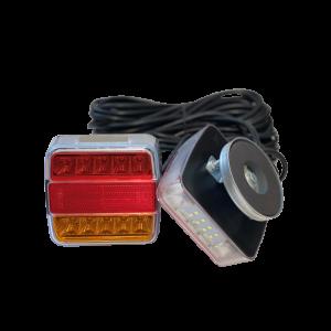 LED Achterlichtset magneet 12-24v Oranje/rood/rood 12m