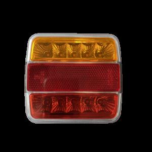 LED Achterlicht 12-24v 2mtr. kabel Oranje/rood/rood