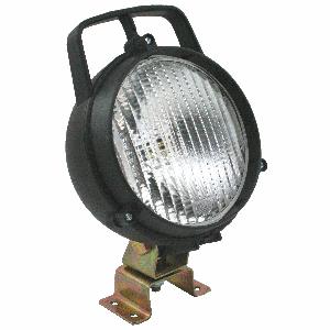 Werklamp rond m/handvat/schakelaar 130mm Dasteri