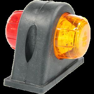 Markeringslamp LED zijkant rubber kort rood/oranje (428)