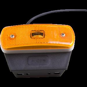 Markeringslamp LED oranje 1xled met steun 12/24v