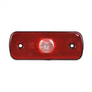 Markeringslamp LED rood 12/24v
