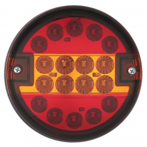 Achterlicht LED rond 140mm (helder glas) 12/24v