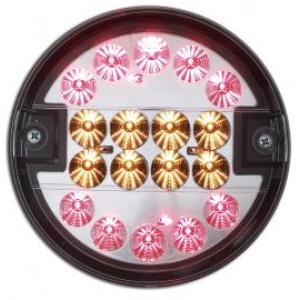 Achterlicht LED rond Ø 140 mm 12/24v (helder glas)