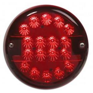 DSL3103 Mistachterlicht led 140mm 9-33v rood glas