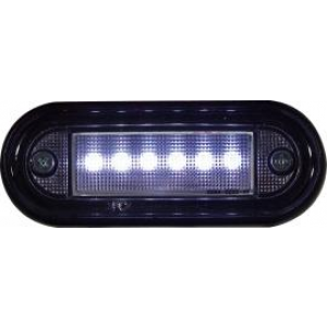 Markeringslamp LED 24v 89x34 Wit 6led