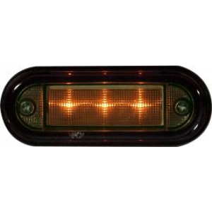 Markeringslamp LED 24v 89x34 oranje (wit glas)