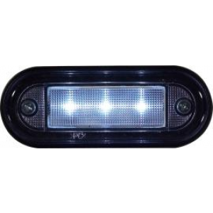 Markeringslamp LED 12/24v 89x34 wit 3led